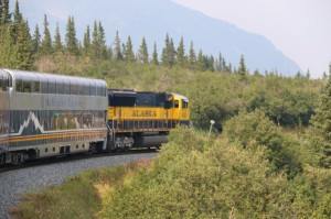 Alaska Railroad with custom tour cars