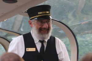 Our train conductor