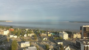 View of Anchorage from our hotel room