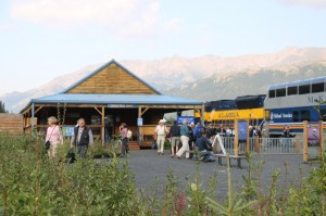 Arriving at the Denali Park Depot